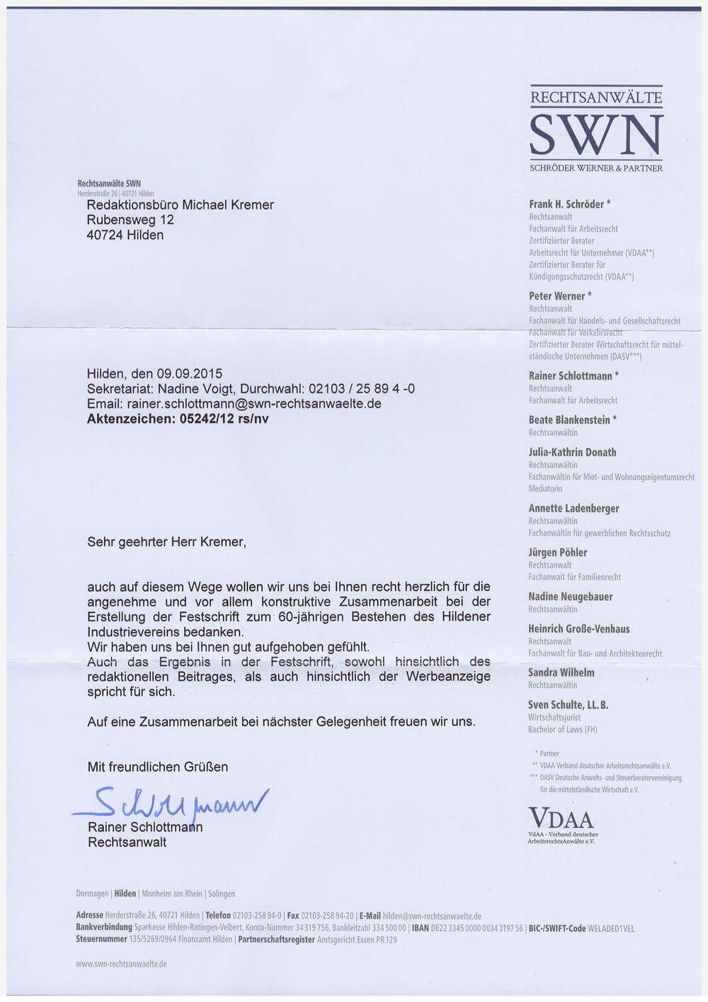 Anwaltskanzlei Schröder Werner & Partner